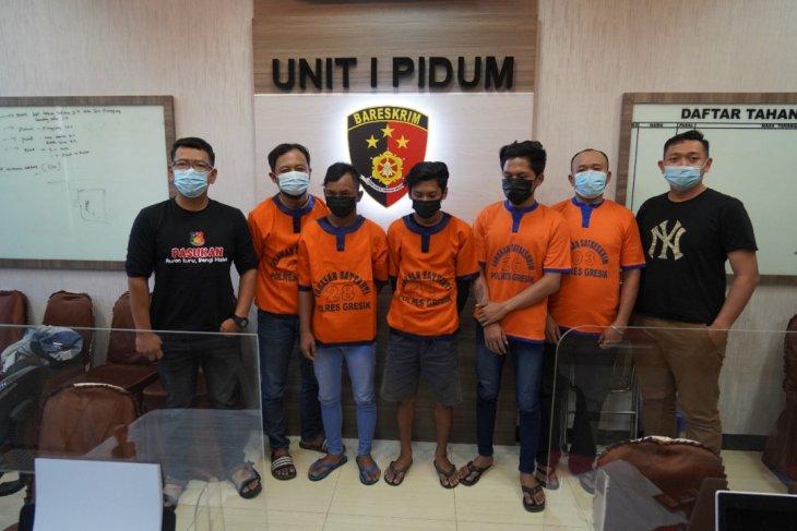 Polisi tangkap lima pemalak sopir truk kawasan Pantura Jatim