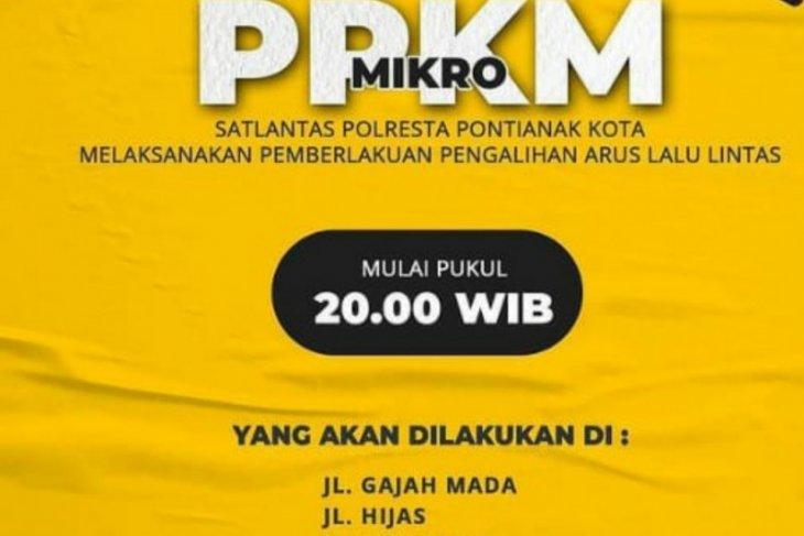 Polresta Pontianak alihkan arus lalu-lintas dukung PPKM