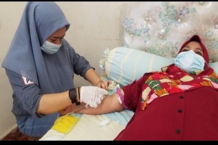 Donor darah kerjasama PMI Tebing Tinggi dan RS PTPN VI Pabatu