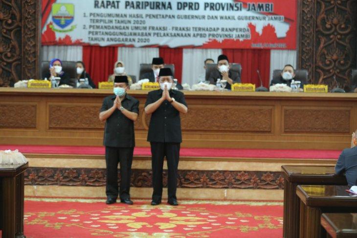 DPRD umumkan penetapan gubernur dan wakil gubernur Jambi terpilih