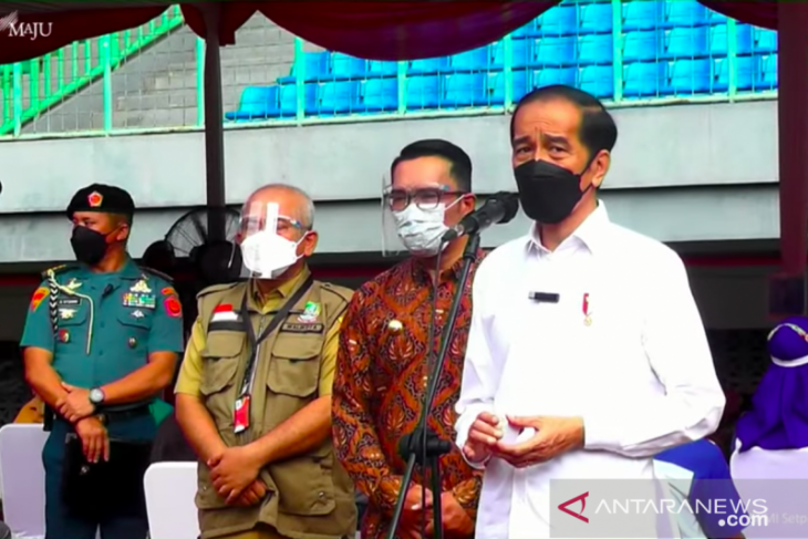 President arrives in Bekasi to observe mass vaccination drive