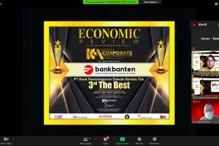 Bank Banten Raih Indonesia Corporate Secretary & Corporate Communication Award 2021