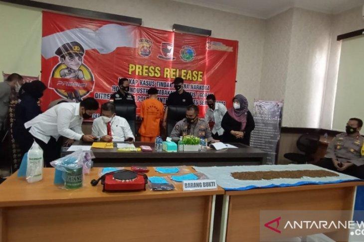 Ditresnarkoba  Polda Banten ungkap