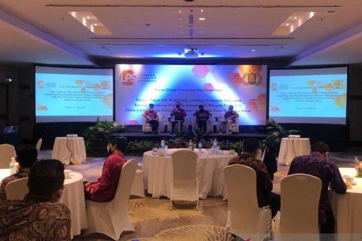 LPS lakukan sosialisasi kepada jajaran Polri Jawa-Bali-NTB di Bali
