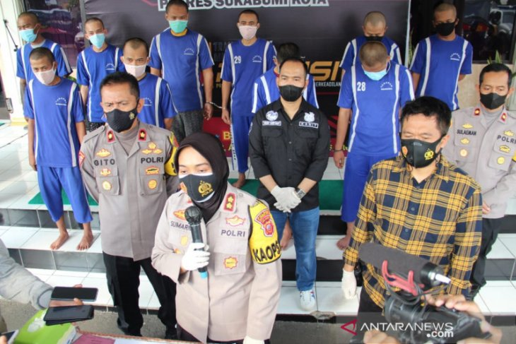 10 tersangka pengedar narkoba di Sukabumi berhasil ditangkap polisi pada awal Juni