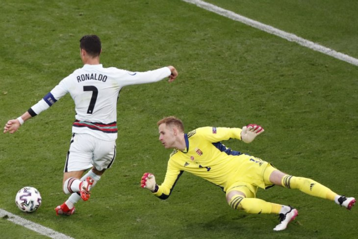 Ronaldo lewati rekor Platini sebagai pencetak gol terbanyak Eropa