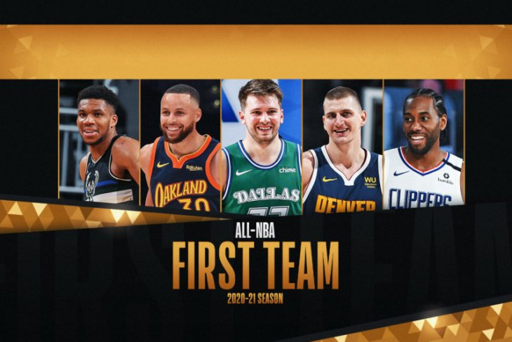 Jokic, Antetokounmpo, Curry pimpin All-NBA First Team untuk 2020-21