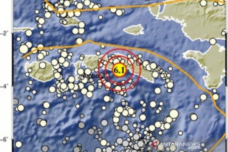 Gempa magnitudo 6,1 guncang  Maluku