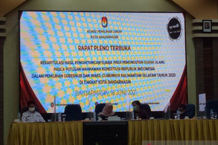 PSU Pilgub: BirinMU unggul sebanyak 16.893 suara atas H2D di Banjarmasin