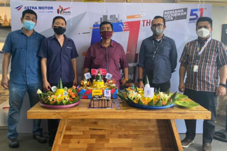 Astra Motor Kalimantan Barat memeriahkan HUT Astra Motor
