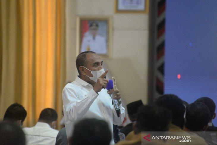 Gubernur Sumut ingatkan kepala desa jangan terhanyut program Bimtek