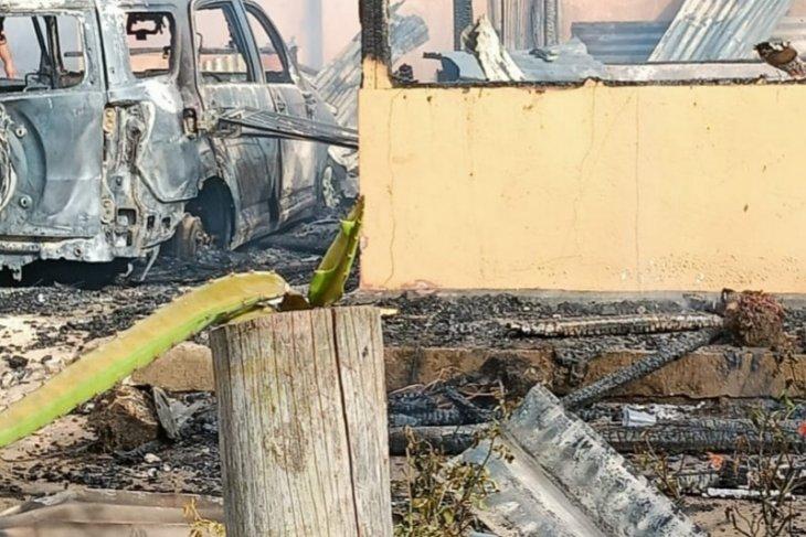 Polres Mukomuko: Empat rumah terbakar akibat arus pendek listrik