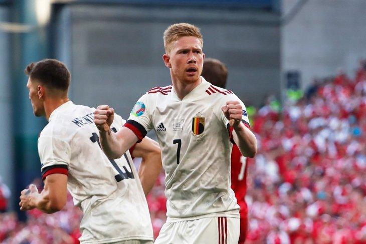 Kevin de Bruyne bawa Belgia balik hancurkan Denmark 2-1