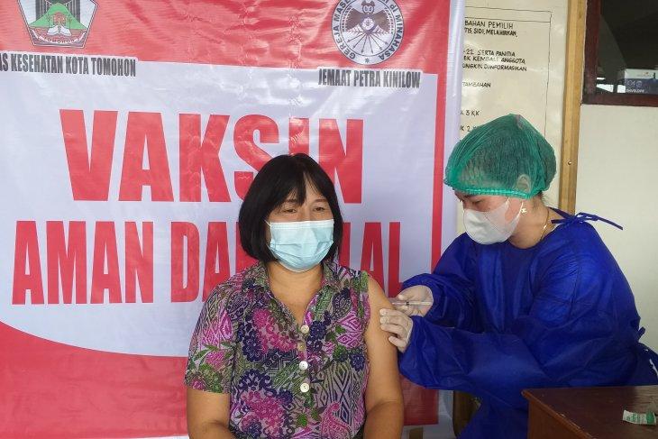 Vaksinasi COVID-19 pertama di Kota Tomohon capai 22.034 orang