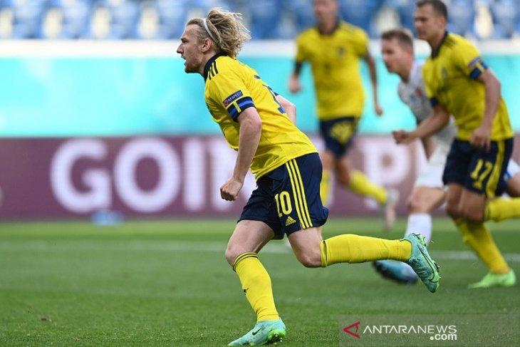 Euro 2020: Penalti Forsberg perbesar peluang Swedia ke babak 16 besar