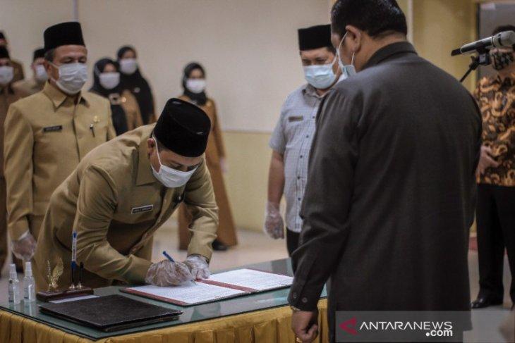 Wali Kota Padangsidimpuan lantik sejumlah pejabat