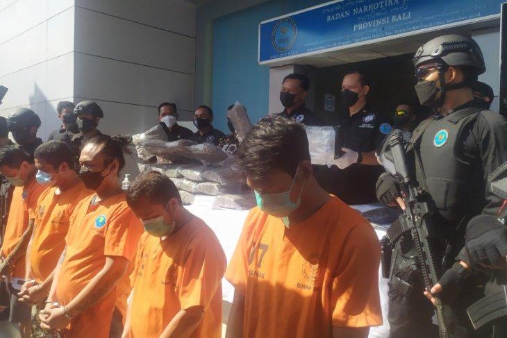 BNNP Bali gagalkan peredaran 50 kg ganja jaringan Lapas Kerobokan
