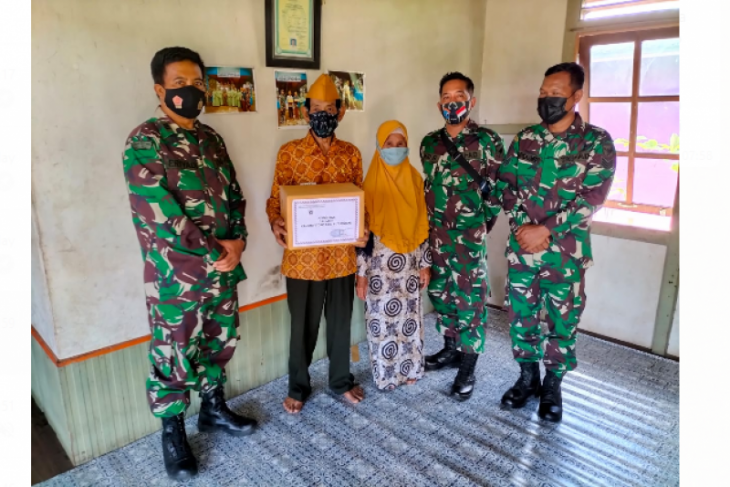 Kunjungi veteran Kaurcad Kanminvetcad  XII/30 Putussibau sosialisasikan Prokes