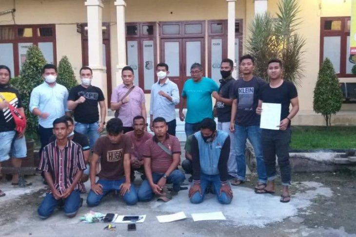 Diduga pungli, Polisi tangkap tujuh juru parkir di Langsa