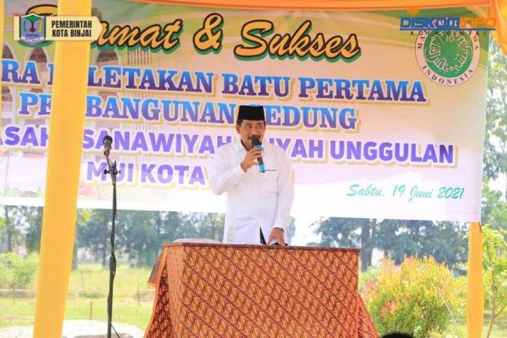 Wali Kota Binjai letakkan batu pertama pembangunan sekolah unggulan MUI
