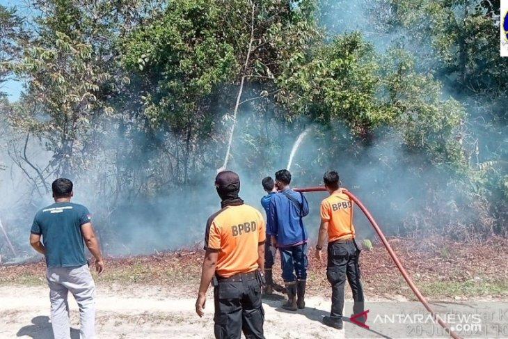 Kebakaran lahan melanda Sungai Hijau Kampar