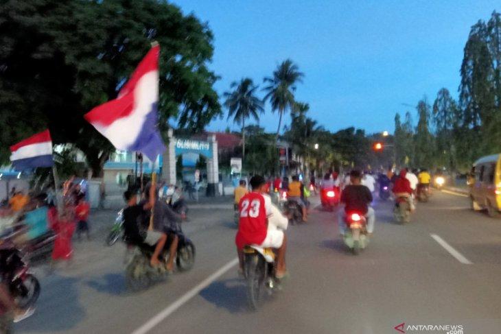 Penggemar Piala Eropa di Papua Barat konvoi, protokol kesehatan diabaikan