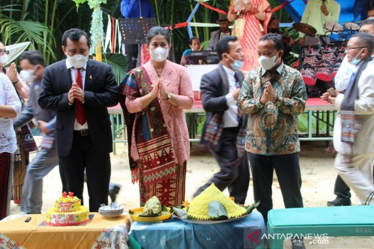Pesta jubileum 55 tahun HKBP Poriaha Tapteng terapkan prokes COVID-19