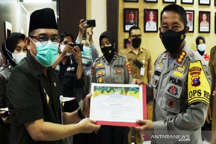 Polresta Banjarmasin terima penghargaan dari wali kota berhasil ungkap sabu 135 Kg