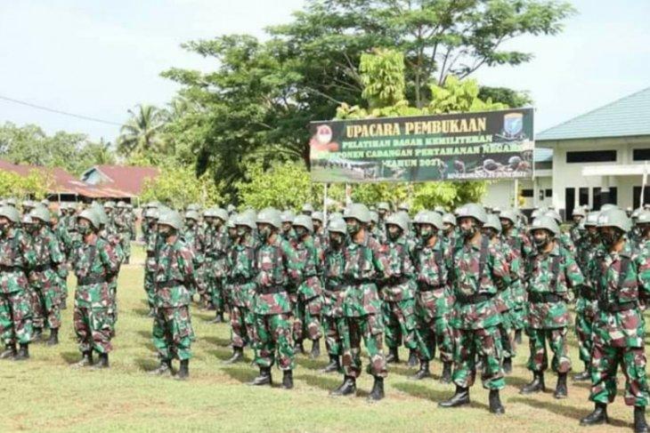 Latsarmil komponen cadangan di Rindam XII/Tpr diikuti sebanyak 500 sukarelawan