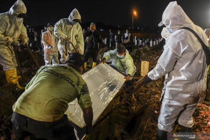 Pemprov Jakarta catat rekor tertinggi pemakaman jenazah COVID-19 harian