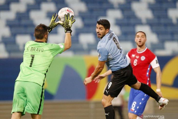 Laga Uruguay vs Chile berakhir imbang 1-1