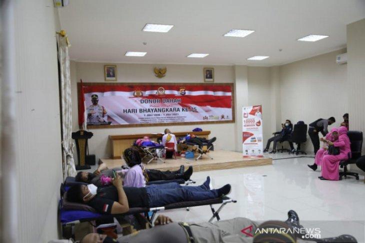 Polresta Tangerang-PMI gelar donor darah massal