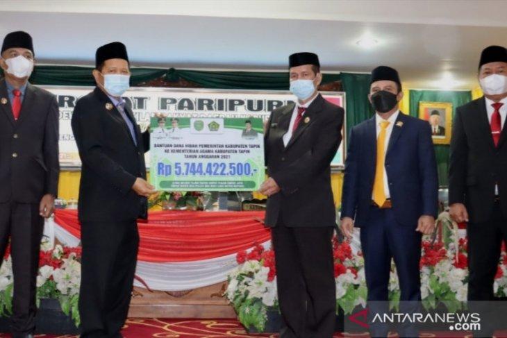 Pemkab Tapin hibahkan Rp 5,349 miliar untuk ustadz dan ustazah