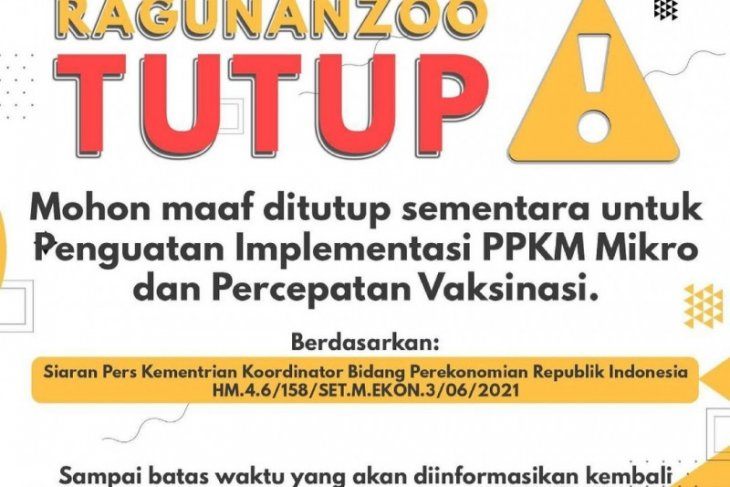 Taman Margasatwa Ragunan tutup sementara terkait lonjakan kasus COVID-19