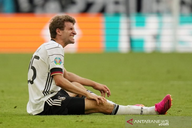Kondisi Thomas Mueller masih tanda tanya jelang Jerman vs Hungaria di EURO 2020