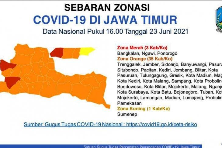 Ponorogo dan Ngawi susul Bangkalan masuk zona merah COVID-19