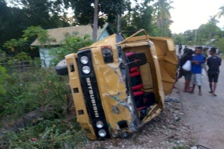 Polisi amankan pengemudi truk dalam lakalantas tewaskan tiga orang