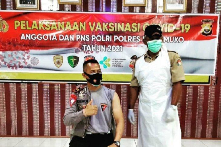 Polres Mukomuko targetkan vaksinasi untuk 1.800 warga