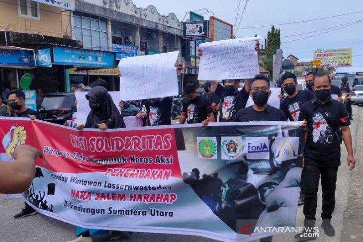 Wartawan Abdya gelar aksi solidaritas untuk jurnalis korban penembakan di Sumut