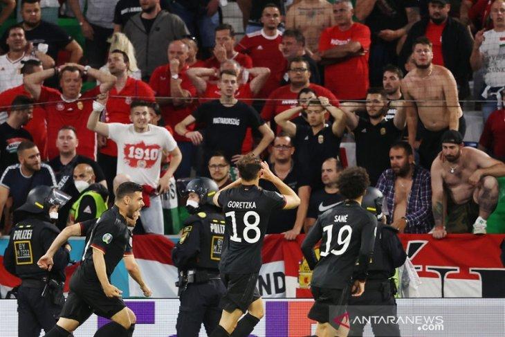 Jerman imbangi perlawanan Hongaria 2-2 untuk lolos ke 16 besar