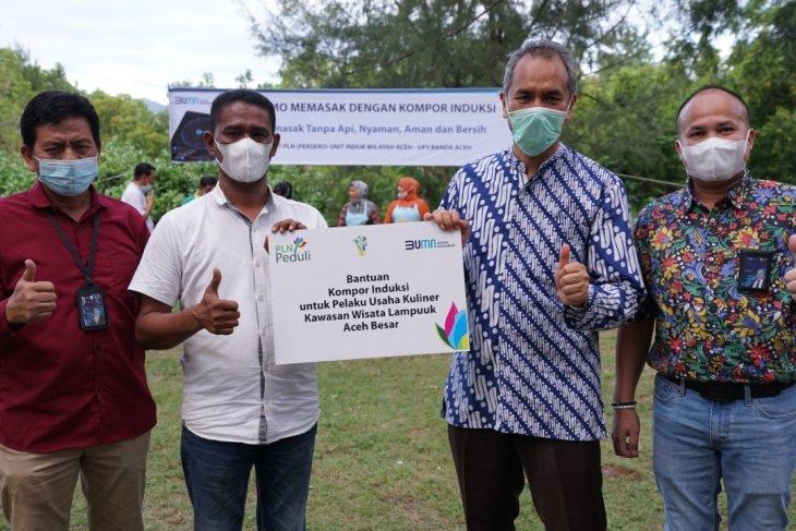 Ini ajakan GM PLN UIW Aceh kepada pelaku usaha kuliner di Pantai Lampuuk