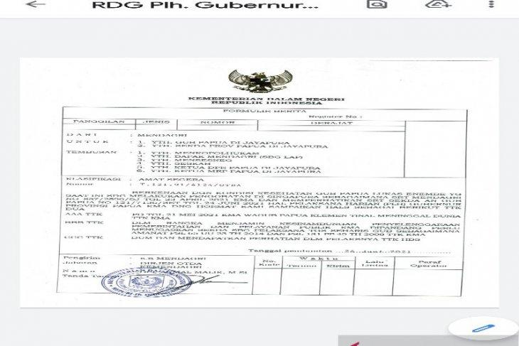 Kemendagri benarkan ada surat penunjukan Plh Gubernur Papua