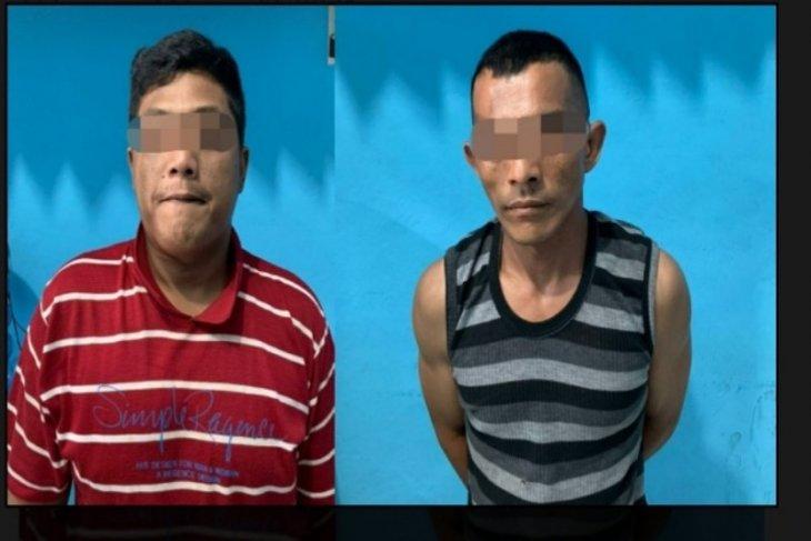 Curi koran, dua pria ini ditangkap Reskrim Polres Tebing Tinggi