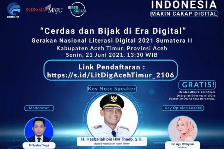 Tingkatkan pemahaman digitalisasi, Kominfo gelar literasi digital di Aceh Timur