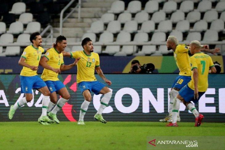 Gol penghujung Casemiro pastikan Brazil menang 2-1 atas Kolombia