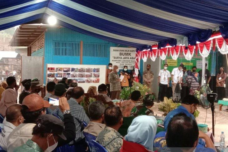 Gubernur kunjungi  peternakan BUMK Surya Jaya a Abadi