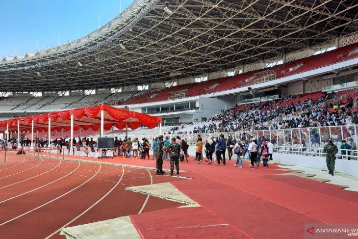 11,500 Jakartans get COVID-19 jabs at Bung Karno Stadium