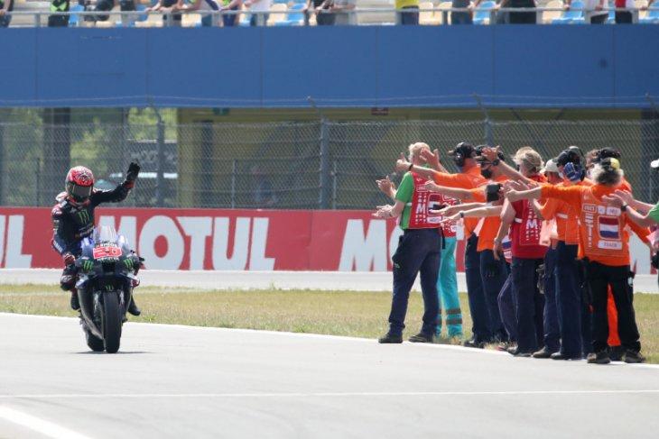 Fabio Quartararo juarai MotoGP Belanda ketika Yamaha finis 1-2
