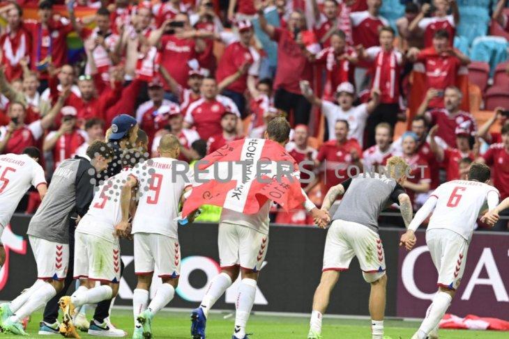 Menang besar 4-0, Denmark ke perempat final Euro 2020