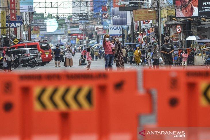 Penutupan jalan di pusat Kota Tasikmalaya